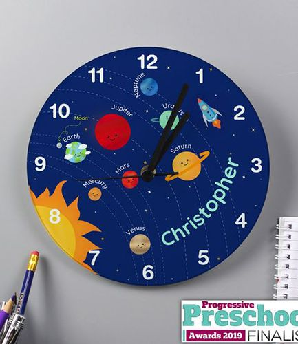 Personalised Solar System Glass Clock
