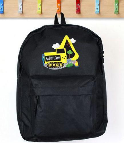 Personalised Backpack Black Digger