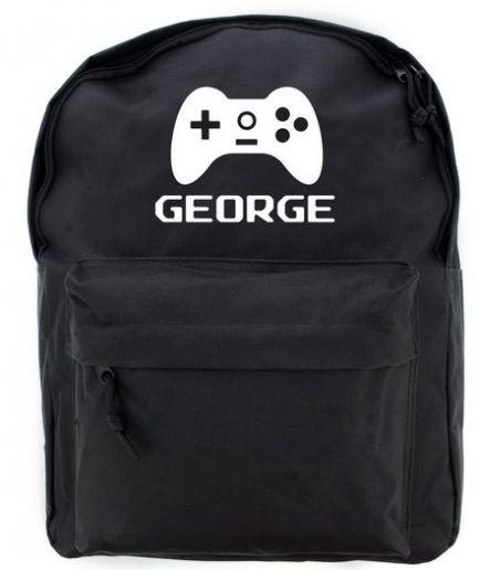 Personalised Backpack Black Gaming
