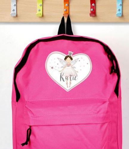 Personalised Backpack Pink Fairy Princess