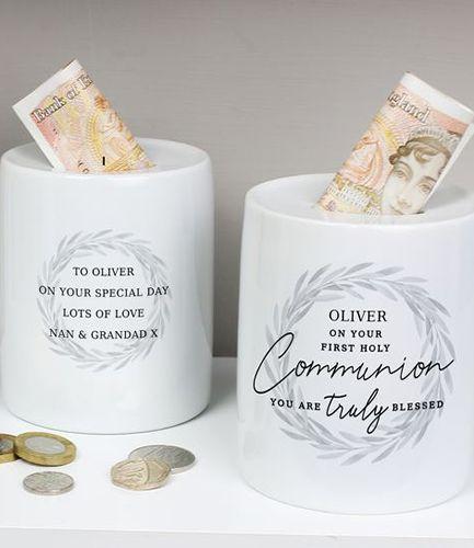 Personalised First Holy Communion Ceramic Money Box