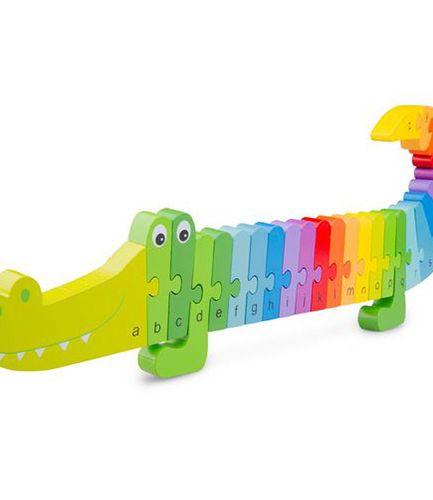Alphabet Puzzle Crocodile