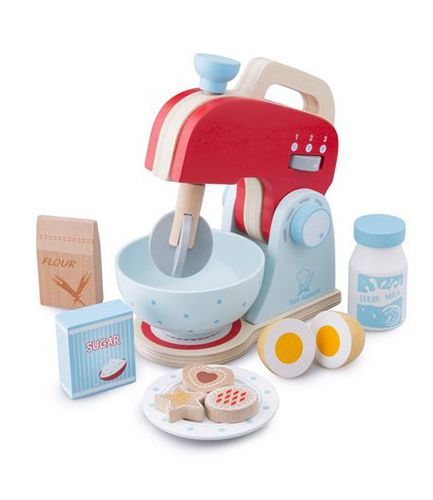Wooden Mixer and Accessories - Blue