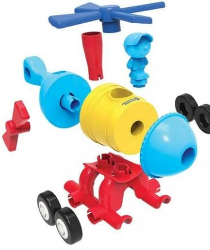 1-2-3 Build It! - Rocket-Train-Helicopter