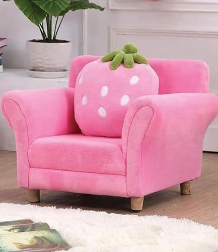 Deluxe Pink Sofa Chair and Cushion