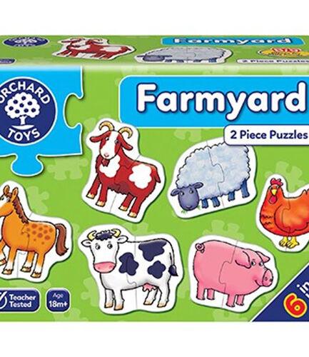 Farmyard 2 Piece Puzzles