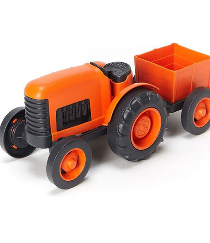 Tractor and Trailer Orange